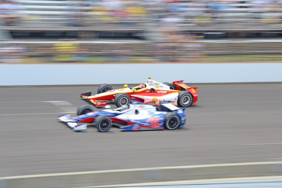 Helio Castroneves and Marco Andretti