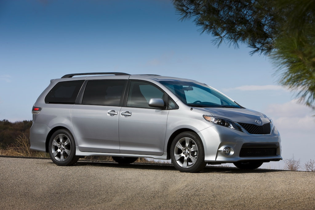 driven 2011 toyota sienna winding road. Black Bedroom Furniture Sets. Home Design Ideas