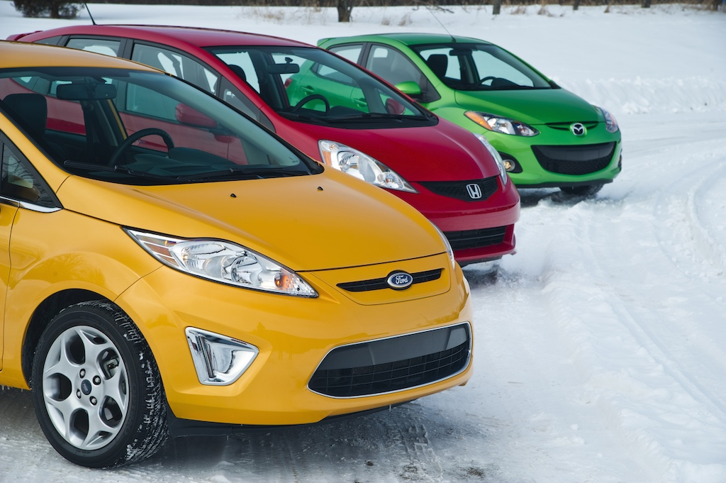 High Quality Ford Fiesta Vs. 2011 Honda Fit Vs. 2011 Mazda2 Winding Road Review Posted  Image