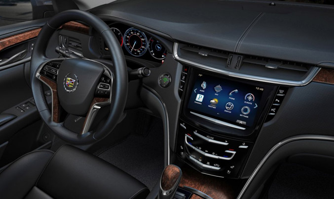Cadillac S Cue System Adds An Effective Upscale Aesthetic To The Xts But In Practice We Found Be Frustrating Use As Its Touchscreen Interface